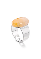 www.snowfall-fashion.com - Ring with natural stone Yellow Jade >= Ø 17,5mm - J09392