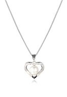 www.snowfall-beads.com - Necklace with heart 42cm - J09395