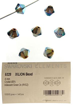 www.snowfall-beads.nl - SWAROVSKI ELEMENTS kraal 5328 XILION Bead konisch 4mm