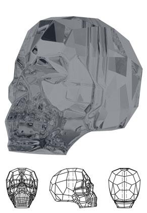 www.snowfall-beads.de - SWAROVSKI ELEMENTS Perle 5750 Skull Bead Schädel 15x13mm
