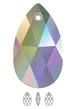www.snowfall-beads.fr - SWAROVSKI ELEMENTS pendentif/breloque 6106 Pear-Shaped Pendant goutte 16x9,5mm