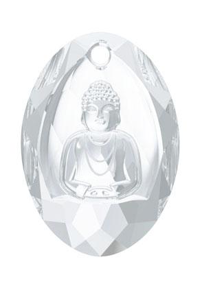 www.snowfall-beads.nl - SWAROVSKI ELEMENTS hanger 6871 Buddha Pendant 28x19,8mm