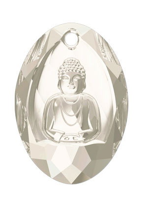 www.snowfall-beads.nl - SWAROVSKI ELEMENTS hanger 6871 Buddha Pendant 28x19,8mm