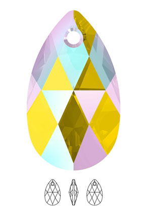 www.snowfall-beads.com - SWAROVSKI ELEMENTS charm/pendant 6106 Pear-Shaped Pendant drop 16x9,5mm