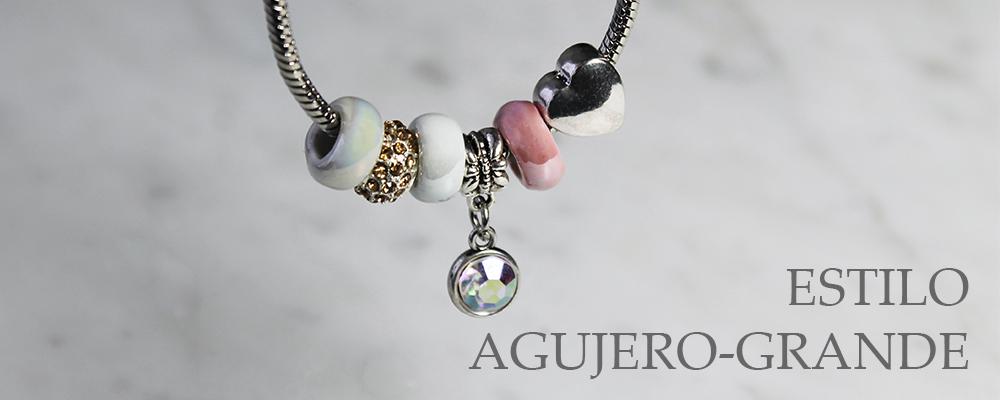 www.snowfall-beads.es - Estilo agujero-grande cuentas y pendientes