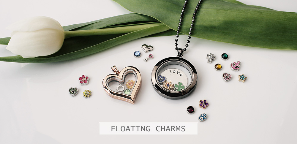 www.snowfall-beads.com - Floating Charm Locket