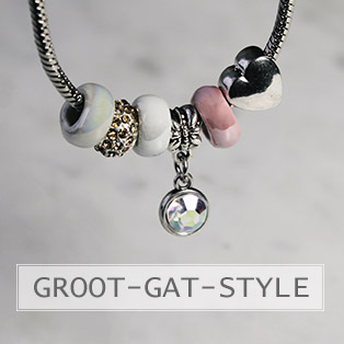 www.snowfall-beads.be - Groot gat stijl kralen