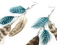 www.snowfall-beads.be - Inspiratie: Feather Earrings Autumn