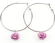 www.snowfall-beads.be - Inspiratie: Vintage Rose Earrings