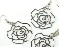 www.snowfall-beads.fr - Inspiration: Earrings and Necklace Roses