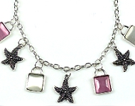 www.snowfall-beads.be - Inspiratie: Starfish Necklace