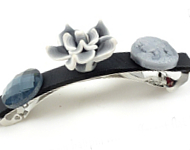 www.snowfall-beads.com - Inspiration: Flat Back Hairpin