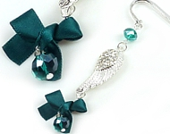 www.snowfall-perles.be - Inspiration: Bookmark with bow