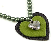 www.snowfall-beads.be - Inspiratie: Necklace with Hearts