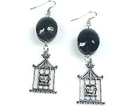 www.snowfall-beads.fr - Inspiration: Earrings with Birdcage