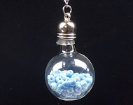 www.snowfall-beads.de - Inspiration: Glasflasche