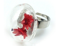 www.snowfall-beads.com - Inspiration: Ring with glass flat backs