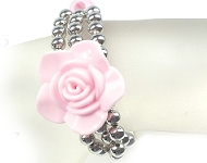 www.snowfall-beads.com - Inspiration: Bracelet with rose
