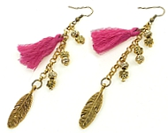 www.snowfall-beads.de - Inspiration: Ohrringe gold-rosa