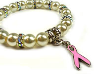 www.snowfall-beads.co.uk - Inspiration: Pink Ribbon bracelet