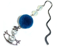 www.snowfall-beads.com - Inspiration: Bookmark snowman