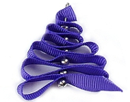 www.snowfall-beads.de - Inspiration: Weihnachtsbaum aus Band und Perlen