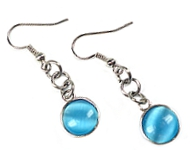 www.snowfall-beads.fr - Inspiration: Boucles d'oreilles cateye