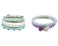 www.snowfall-beads.fr - Inspiration: Bracelet avec des oiseaux et des fleurs