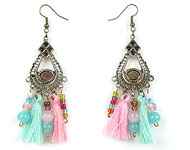 www.snowfall-beads.fr - Inspiration: Boho Earrings