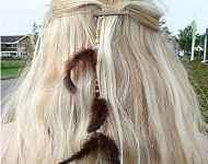 www.snowfall-beads.nl - Inspiratie: Feather Hairpin