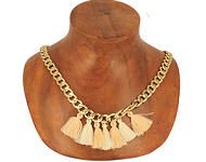 www.snowfall-beads.com - Jewelry project: Golden Statement Necklace