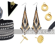 www.snowfall-beads.fr - Spotlight: Black and Gold