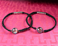 www.snowfall-beads.com - Jewelry project: Silk cabochon bracelet