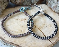 www.snowfall-beads.com - Jewelry project: Wrapped bracelet