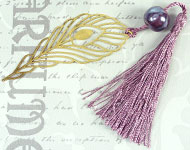 www.snowfall-beads.nl - Sieradenproject: Peacock Bookmark