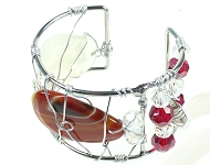 www.snowfall-beads.com - Jewelry project: Cuff Wire Bracelet