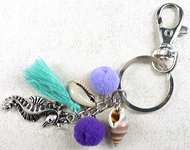 www.snowfall-beads.com - Jewelry project: Summery Key fob