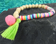 www.snowfall-beads.com - Jewelry project: Summer Neon Bracelet