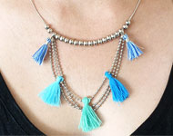 www.snowfall-beads.com - Jewelry project: Blue Waterfall Necklace
