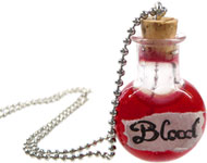 www.snowfall-beads.com - Jewelry project: Bloody Halloween Necklace