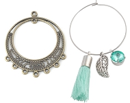www.snowfall-beads.com - Hoop earrings/creole earrings collection