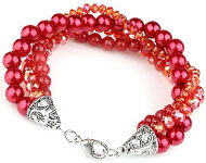 www.snowfall-beads.com - Jewelry project: Facets and pearls Bracelet
