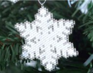 www.snowfall-beads.com - Jewelry project: Snow Crystal by Miyuki