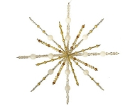 www.snowfall-beads.com - Jewelry project: Rayher beadable wire star