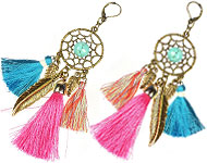 www.snowfall-beads.fr - Projet bijoux: Dreamcatcher Earrings