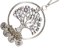 www.snowfall-beads.com - Jewelry project: Family Tree Necklace