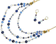 www.snowfall-beads.nl - Sieradenproject: Natural Blue Necklace
