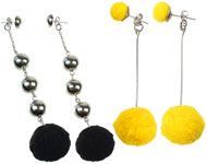 www.snowfall-beads.fr - Projet bijoux: Pompom Earrings