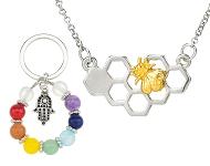 www.snowfall-beads.de - Neue Trend Halsketten und Rainbow Chakra Schmuck