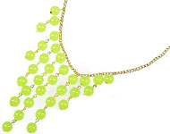 www.snowfall-beads.fr - Projet bijoux: Lime green Necklace